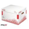 """ESSELTE Archiváló konténer, újrahasznosított karton, felfelé nyíló, ESSELTE """"Speedbox"""", fehér"""