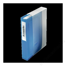 ESSELTE CD/DVD-mappa, műanyag, tokkal, 48 db-os, ESSELTE, áttetsző kék irattartó