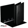 ESSELTE Gyûrûs könyv, panorámás, 4 gyûrû, D alakú, 50 mm, A4, PP/PP, ESSELTE, fekete
