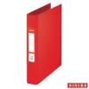 "ESSELTE Gyűrűs könyv, 2 gyűrű, 42 mm, A5, PP/PP,  ""Standard"", Vivida piros"