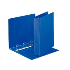 ESSELTE Gyűrűs könyv, panorámás, 4 gyűrű, D alakú, 65 mm, A4, PP/PP, , kék mappa