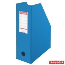 ESSELTE Iratpapucs, PVC/karton, 100 mm, összehajtható, ESSELTE, Vivida kék irattartó