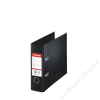 ESSELTE Iratrendező, 75 mm, banki, PP/PP, élvédő sínnel, ESSELTE Standard, Vivida fekete (E468970)