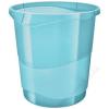 ESSELTE Papírkosár, 14 liter, ESSELTE Colour` Ice, áttetsző kék (E626289)