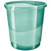 ESSELTE Papírkosár, 14 liter, ESSELTE Colour` Ice, áttetsző zöld (E626290)