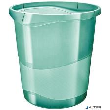 """ESSELTE Papírkosár, 14 liter, ESSELTE """"Colour' Ice"""", áttetsző zöld szemetes"""