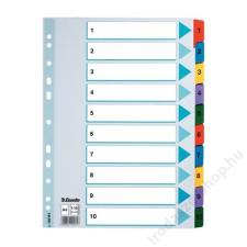 ESSELTE Regiszter, laminált karton, A4 Maxi, 1-10, ESSELTE Mylar (E100161) regiszter és tartozékai