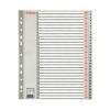 ESSELTE Regiszter, műanyag, A4 Maxi, 1-31, ESSELTE, szürk