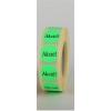 """. Etikett, 20 mm kör, """"AKCIÓ"""" felirattal, 1000 etikett/tekercs, zöld"""