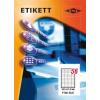 Etikett címke pd 52.5x21.17 szegély nélkül 5600 db/doboz