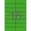 ETIKETT CÍMKE SZÍNES 105X37 MM ZÖLD 16 DB/ÍV, 25 ÍV/CSOMAG