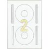 ETIKETT CÍMKE UNIVERZÁLIS 114 MM-es átmérő CD-hez 2 DB/ÍV, 200 DB/CSOMAG