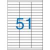 ETIKETT CÍMKE UNIVERZÁLIS 70X16,9 MM 51 DB/ÍV, 5100 DB/CSOMAG