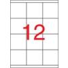 ETIKETT CÍMKE UNIVERZÁLIS 70X67,7 MM 12 DB/ÍV, 1200 DB/CSOMAG