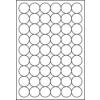 ETIKETT CÍMKE UNIVERZÁLIS KÖR 30 MM-ES ÁTMÉRŐ KEREK 54 DB/ÍV, 5400 DB/CSOMAG