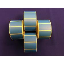 Etikett, thermo, 25x45 mm, 1000 etikett/tekercs, kék etikett