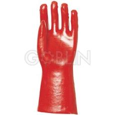 Euro Protection PVC light 36 cm-es, piros, gazdaságos védõkesztyû, 10 pár