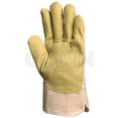 Euro Protection PVC/nitril mûbõr anyagból sárga, jó vízállóságú, tenyérbéléses védõkesztyû, 12 pár