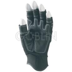 Euro Protection Ujjvég nélküli sofõrkesztyû, szintetikus bõr (PA/PU), belsõ párnázat, PES kézhát, Velcro