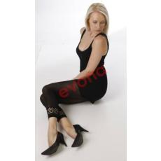EVONA Capri 60 fekete 60 den csipkés szárú leggings