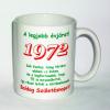 Évszámos bögre 43, 1972.