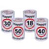 Évszámos persely szülinapra, Happy Birthday 18, 30, 40, 50 éves (50-es)