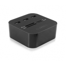Ewent USB 2.0 Card Reader with 3 port hub table model [ EW1044 ] – 143673 kártyaolvasó