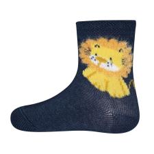 EWERS fiú zokni oroszlán, 16 -17, kék gyerek zokni