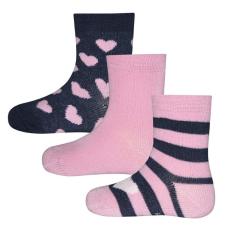 EWERS lány zokni szett három pár szívecske 16 - 17, rózsaszín
