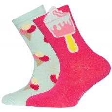 EWERS mintás zokni lányoknak 23-26 többszínű