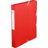 Exacompta füzetbox  PP  piros  A4  40mm