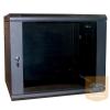 """Excel-Networking Excel WBFP9.6SGB 9U 600X600mm mély 19""""-os fali rack szekrény, fekete színben"""