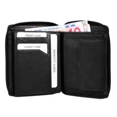 Excellanc uniszex pénztárca valódi bőrből, 10x12 cm