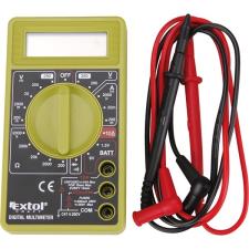 EXTOL CRAFT (3 év garancia) digitális multiméter; Amper/Volt/Ohm mérő, hangjelző funkcióval, CE, 1 db 9V elem mérőműszer