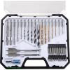 Extol fém-, fa- és betonfúró és BIT klt., 40 db, HSS, HCS és Cr.V., hatszög befogás, műanyag dobozban 8801700
