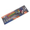 Extol Imbuszkulcs klt., 9db, több színű, extra hosszú; gömbfej, 9db 1,5-10mm (Imbusz kulcs)