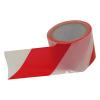 Extol Jelölő szalag, piros-fehér; 75mm×100m, polietilén (kordonszalag) (Jelölő szalag)
