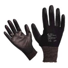 Extol Kötött kesztyű fekete nylon, XL-es méret, 10` poliuretánba mártott teny. és ujjhegy., gumírozott mandzse