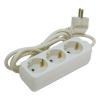 Extol villamos elosztó/hosszabbító, 3 aljzat, 3m kábel, földelt, 250V/10A; max:2500W, Extol