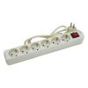 Extol villamos elosztó/hosszabbító, kapcsolóval, 6 aljzat, 5m kábel, földelt, 250V/10A; max: 2500W, Extol