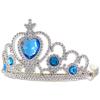 Ezüst tiara kék kövekkel
