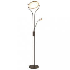 Ezüst tompítható fényerejű állólámpa 18 W 180 cm világítás