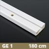 Fa betétes műanyag karnis (GE1) - 1 soros - 180 cm
