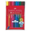 """Faber-Castell Rostirón készlet, háromszögletû, FABER-CASTELL """"Grip"""", 10 különbözõ szín"""