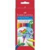 """Faber-Castell Színes ceruza készlet, háromszögletű, FABER-CASTELL \""""Papagáj\"""", 12 különböző szín [12 db]"""