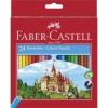 """Faber-Castell Színes ceruza készlet, hatszögletű, FABER-CASTELL \""""Classic\"""", 24 különböző szín [24 db]"""