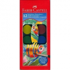 Faber-Castell vízfesték készlet ecsettel - 12 db-os hobbifesték