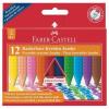 """Faber-Castell Zsírkréta, háromszögletû, FABER-CASTELL """"Jumbo Grip"""", 12 különbözõ szín"""