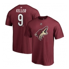 Fanatics Branded Arizona Coyotes fĂŠrfi póló purple #9 Clayton Keller Stack Logo Name & Number - XL
