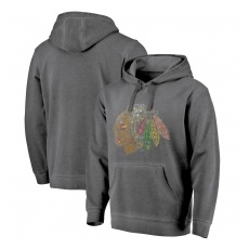 Fanatics Branded Chicago Blackhawks fĂŠrfi kapucnis pulóver grey Shadow Washed Logo - M